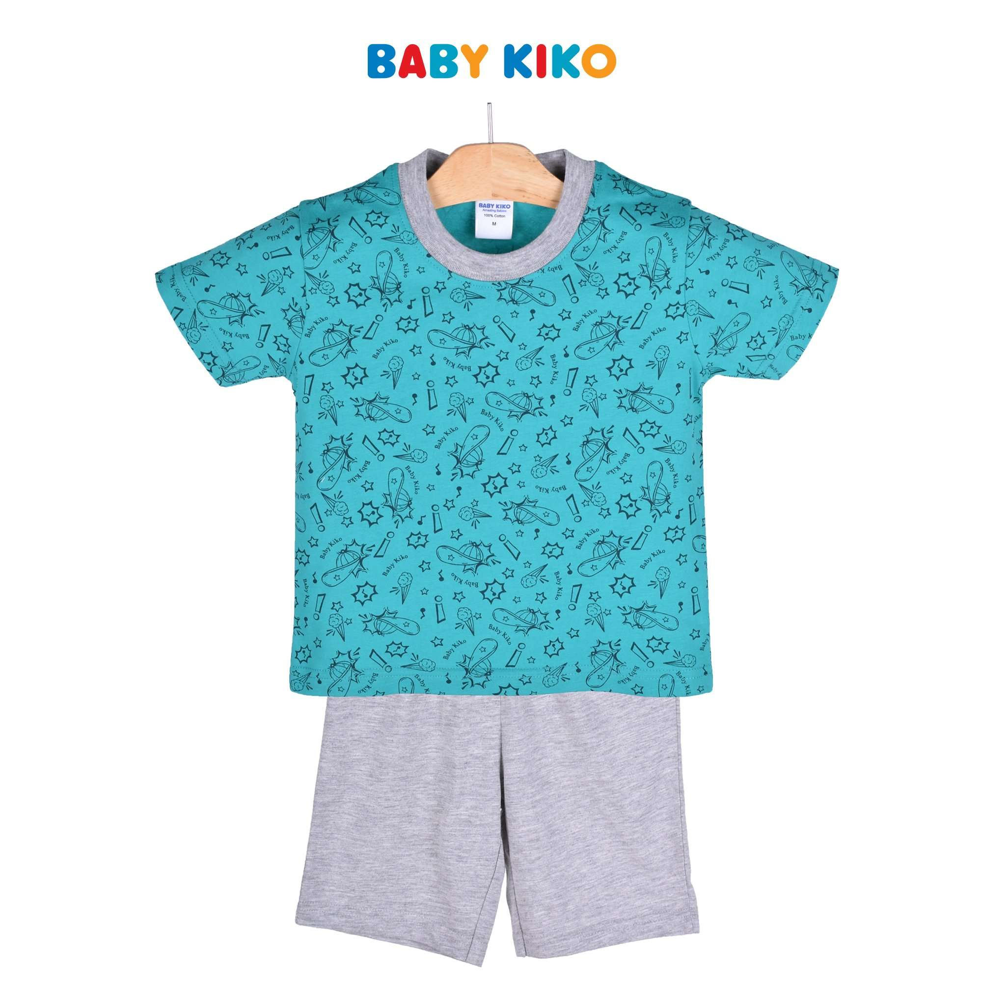 Baby KIKO Toddler Boy Short Sleeve Tee Bermuda Suit 325151-412 : Buy Baby KIKO online at CMG.MY