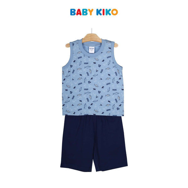 Baby KIKO Toddler Boy Sleeveless Bermuda Suit 325149-402 : Buy Baby KIKO online at CMG.MY