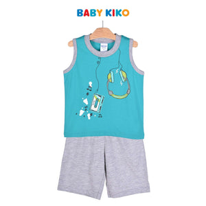 Baby KIKO Toddler Boy Sleeveless Bermuda Suit 325151-401 : Buy Baby KIKO online at CMG.MY