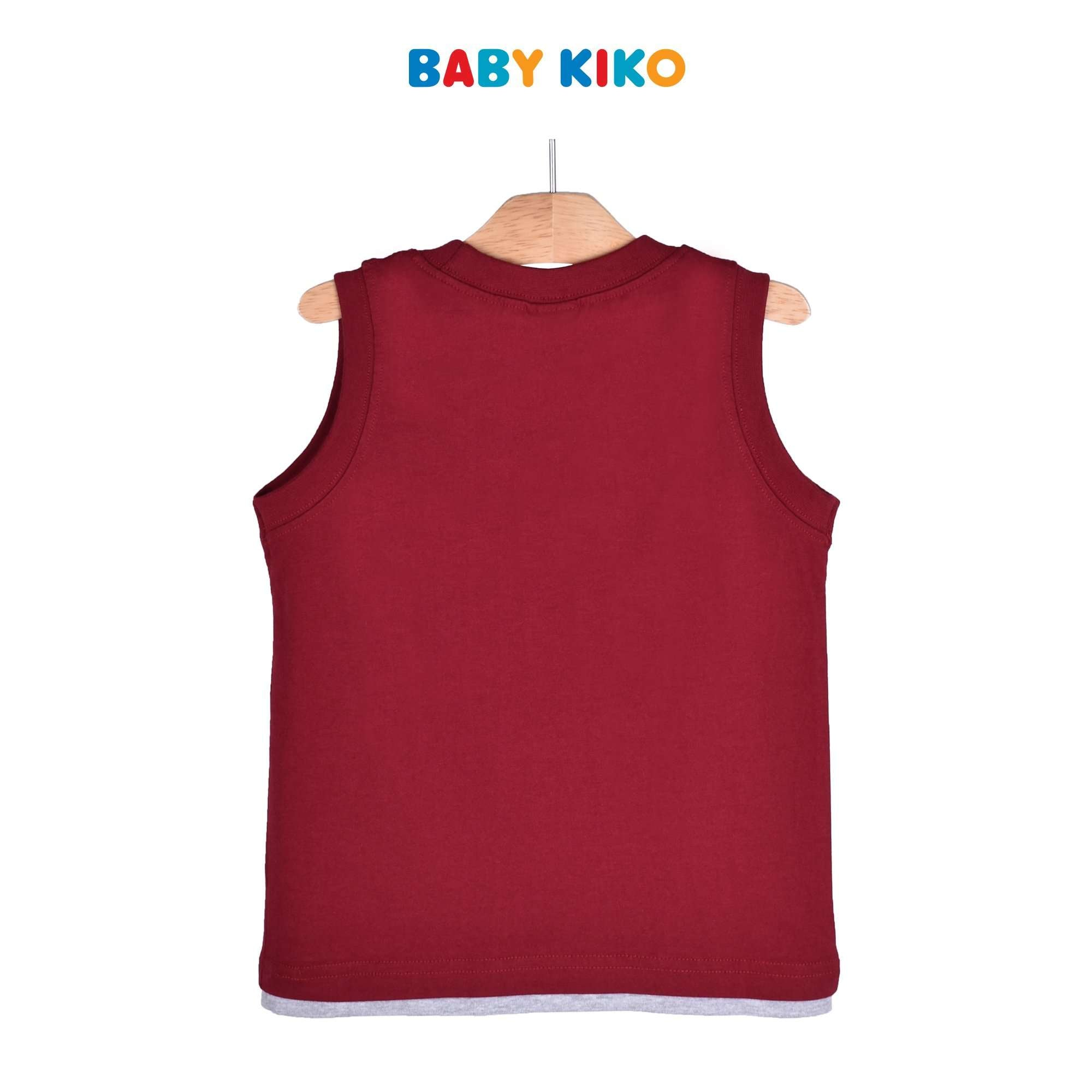 Baby KIKO Toddler Boy Sleeveless Tee Knit 335105-101 : Buy Baby KIKO online at CMG.MY