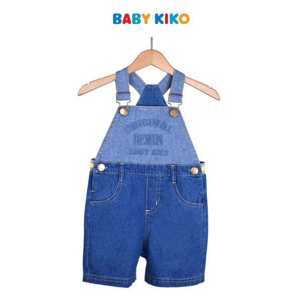 Baby KIKO Toddler Boy Woven Overall- Denim 315157-231 : Buy Baby KIKO online at CMG.MY