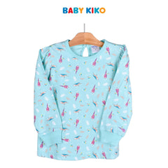 Baby KIKO Toddler Girl Long Sleeve Long Pants Suit - Green 325145-431 : Buy Baby KIKO online at CMG.MY