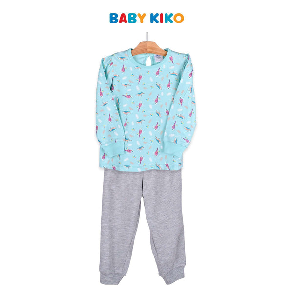 Baby KIKO Toddler Girl Long Sleeve Long Pants Suit - Green 325145-432 : Buy Baby KIKO online at CMG.MY