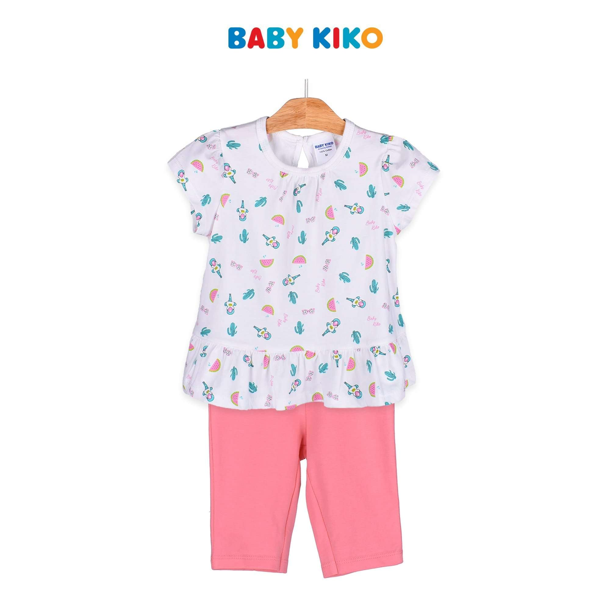 Baby KIKO Toddler Girl Short Sleeve Bermuda Suit - Peach 325158-412 : Buy Baby KIKO online at CMG.MY