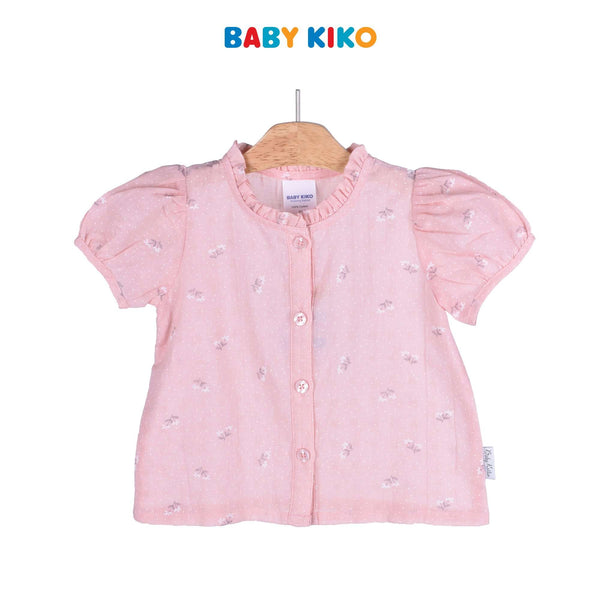 Baby KIKO Toddler Girl Short Sleeve Blouse 335071-141 : Buy Baby KIKO online at CMG.MY