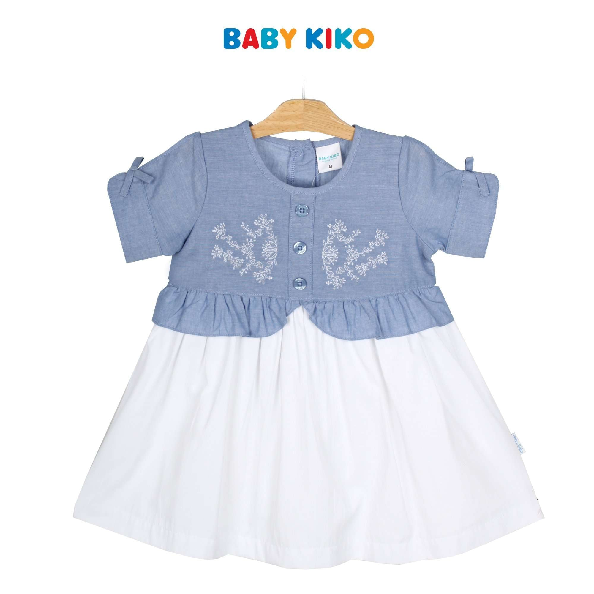 Baby KIKO Toddler Girl Short Sleeve Dress - Blue 315086-312 : Buy Baby KIKO online at CMG.MY