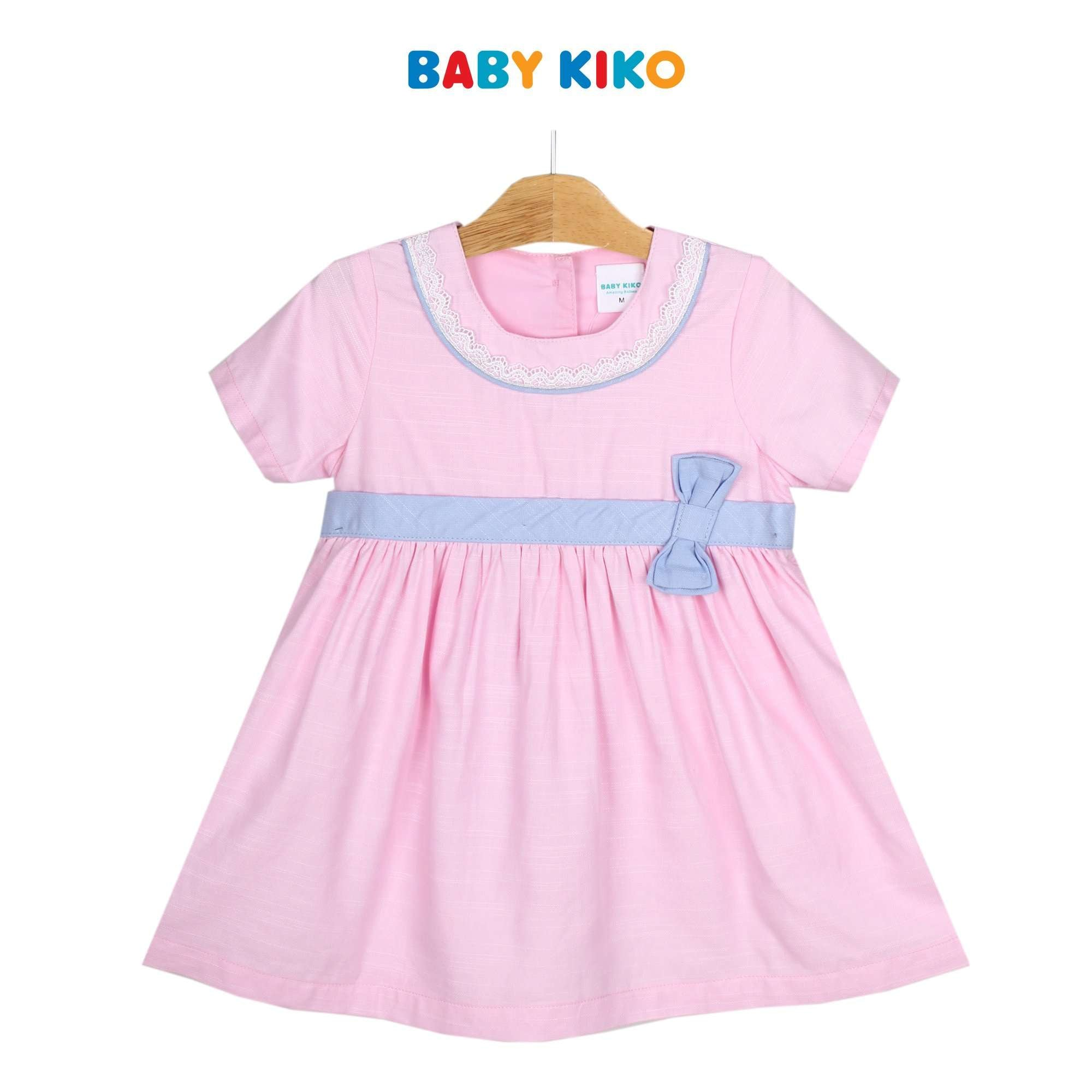 Baby KIKO Toddler Girl Short Sleeve Dress - Blue 315134-312 : Buy Baby KIKO online at CMG.MY