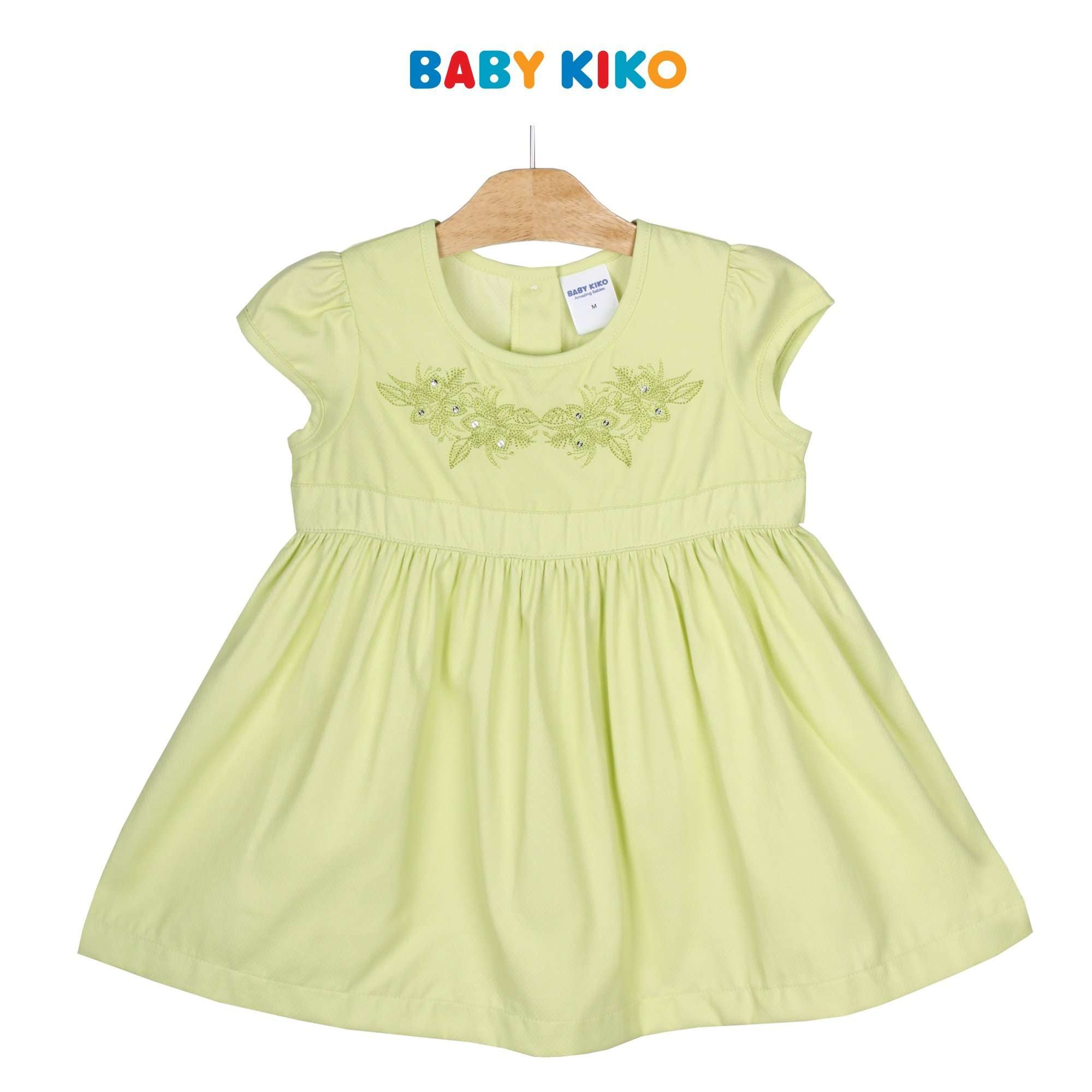 Baby KIKO Toddler Girl Short Sleeve Dress - Green 315139-312 : Buy Baby KIKO online at CMG.MY