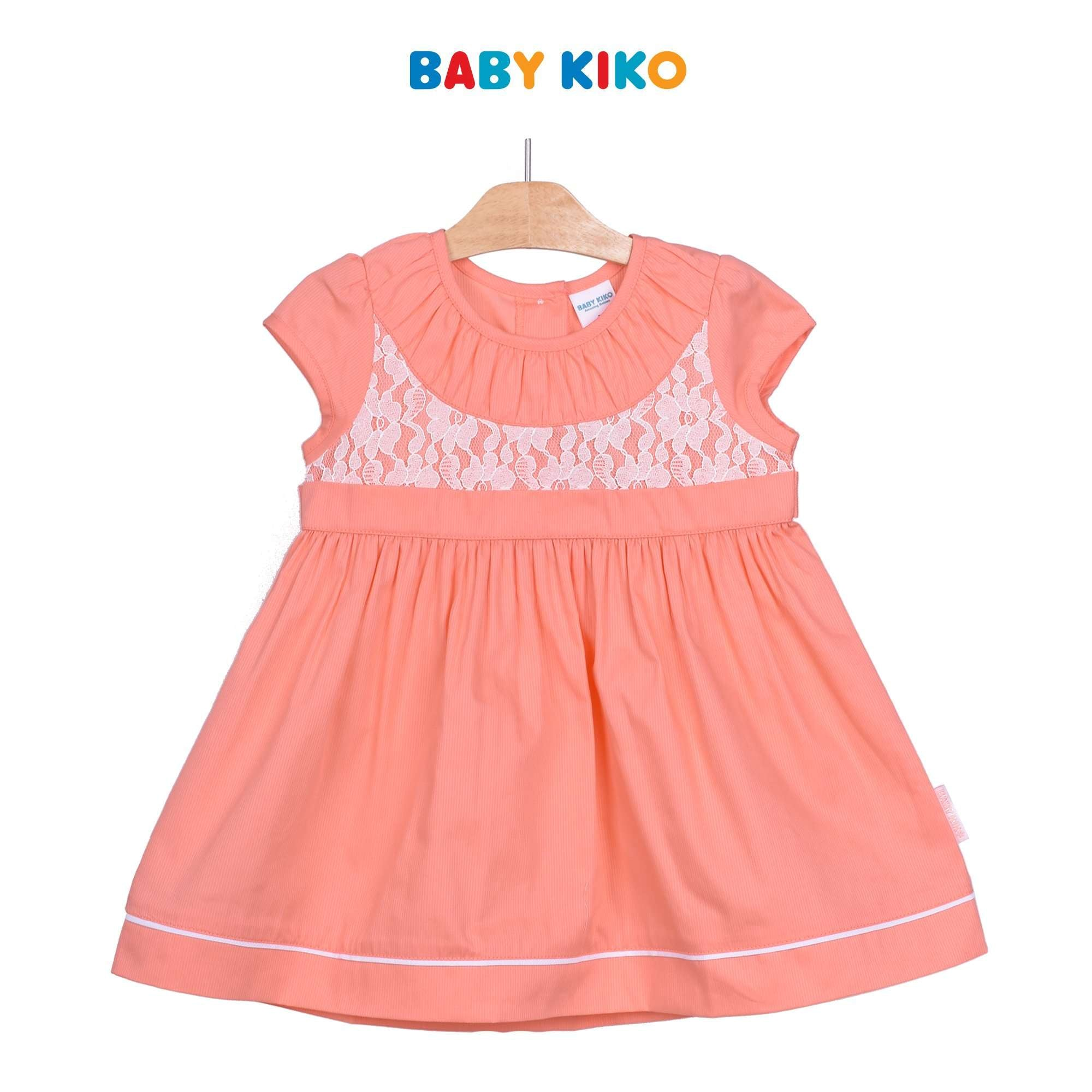 Baby KIKO Toddler Girl Short Sleeve Dress - Peach 315141-312 : Buy Baby KIKO online at CMG.MY