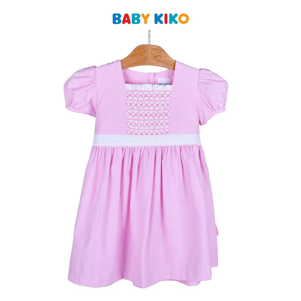 Baby KIKO Toddler Girl Short Sleeve Dress - Pink 315069-312 : Buy Baby KIKO online at CMG.MY