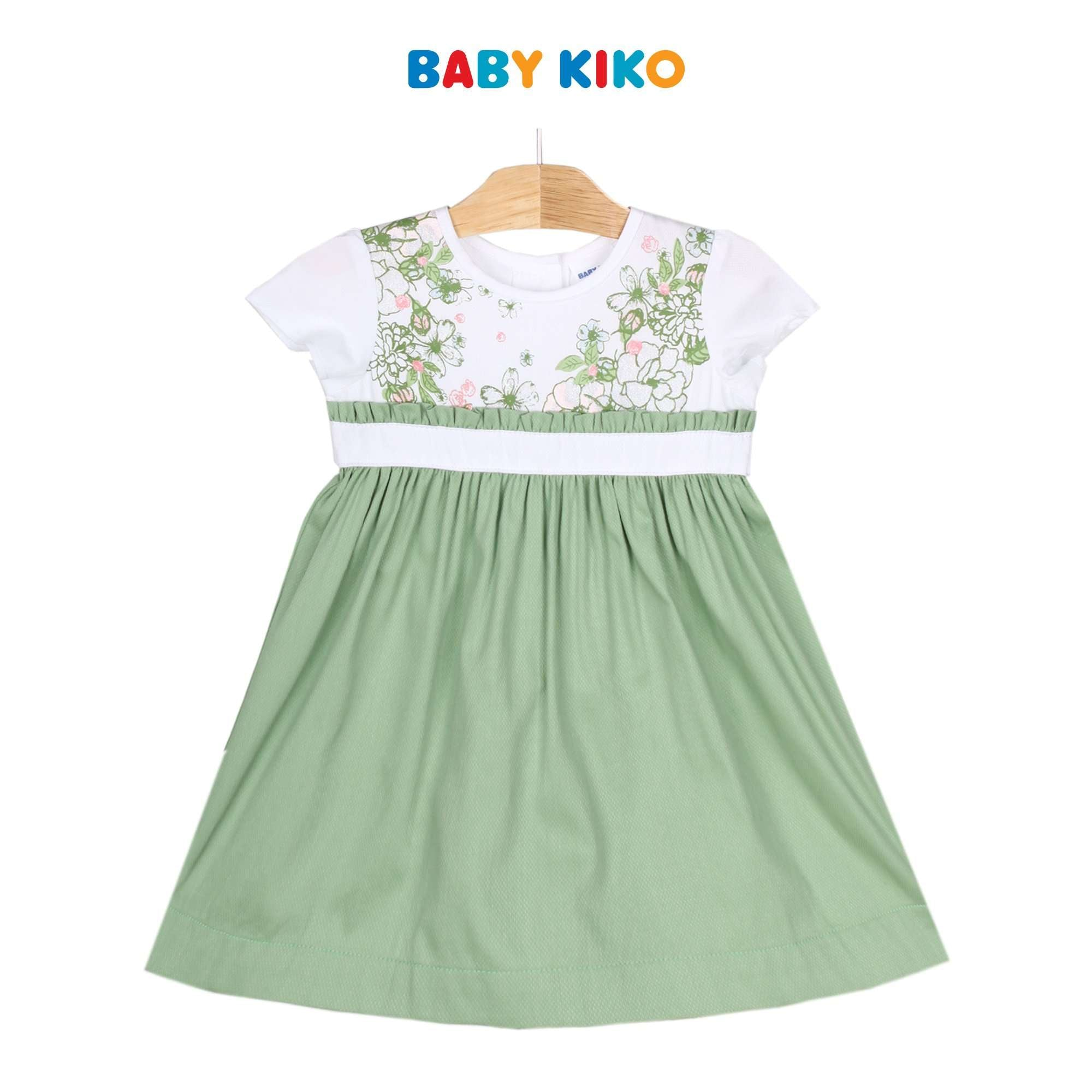 Baby KIKO Toddler Girl Short Sleeve Dress - Zephyr Green 310193-312 : Buy Baby KIKO online at CMG.MY