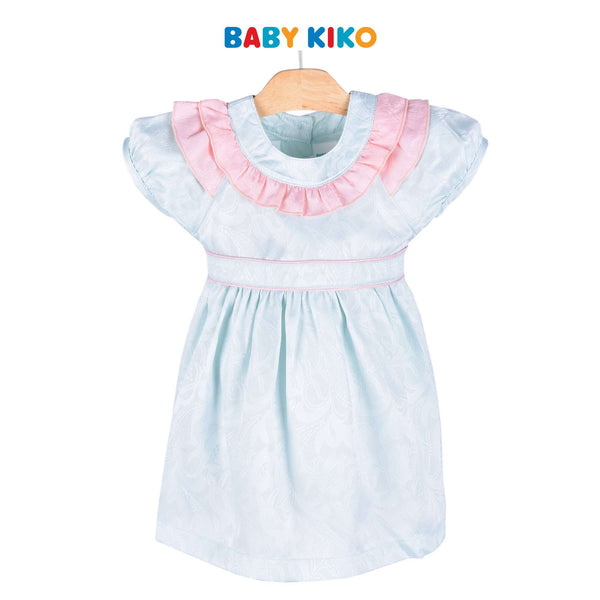 Baby KIKO Toddler Girl Short Sleeve Dress Blue 315090-312 : Buy Baby KIKO online at CMG.MY