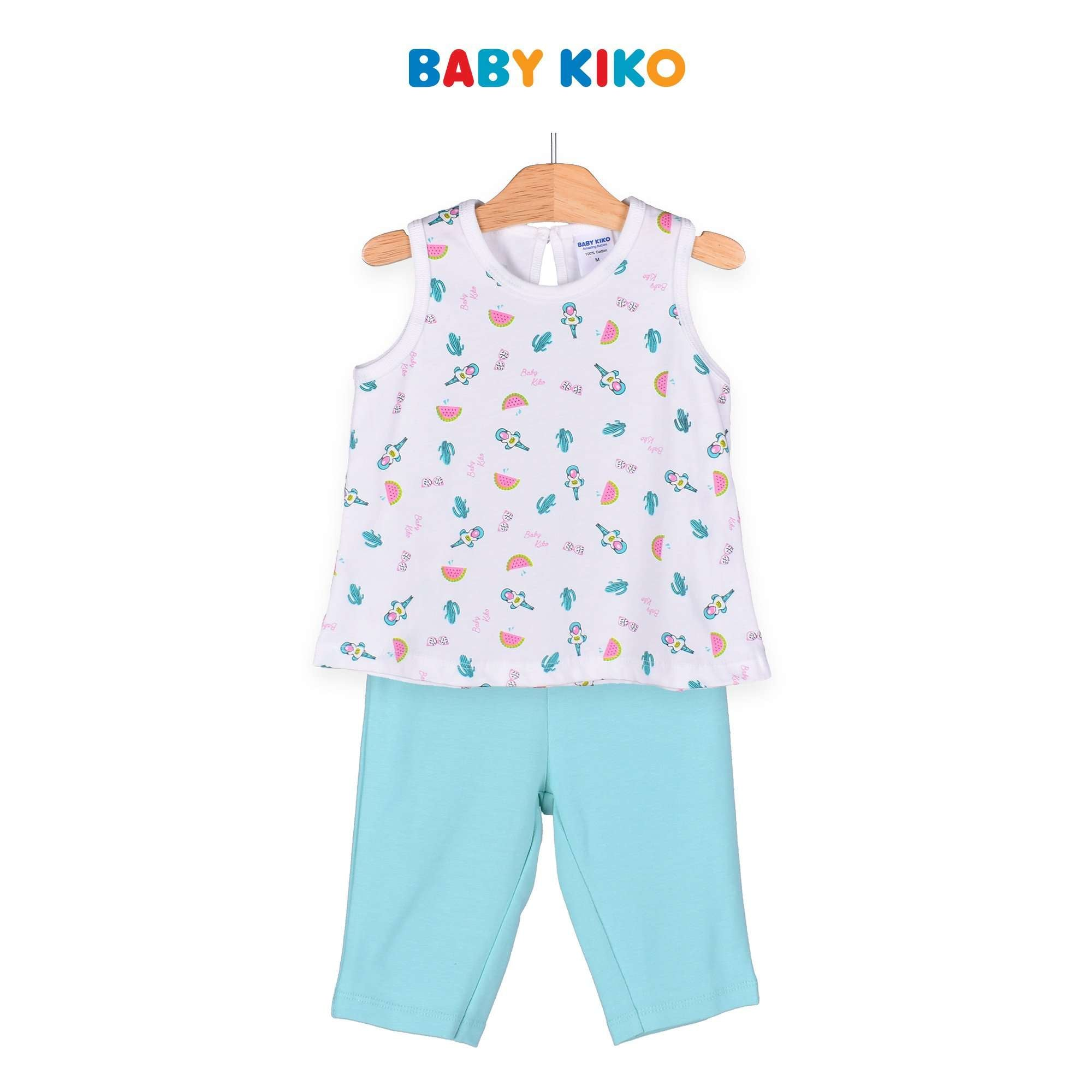 Baby KIKO Toddler Girl Sleeveless Bermuda Suit - Light Green 325158-402 : Buy Baby KIKO online at CMG.MY
