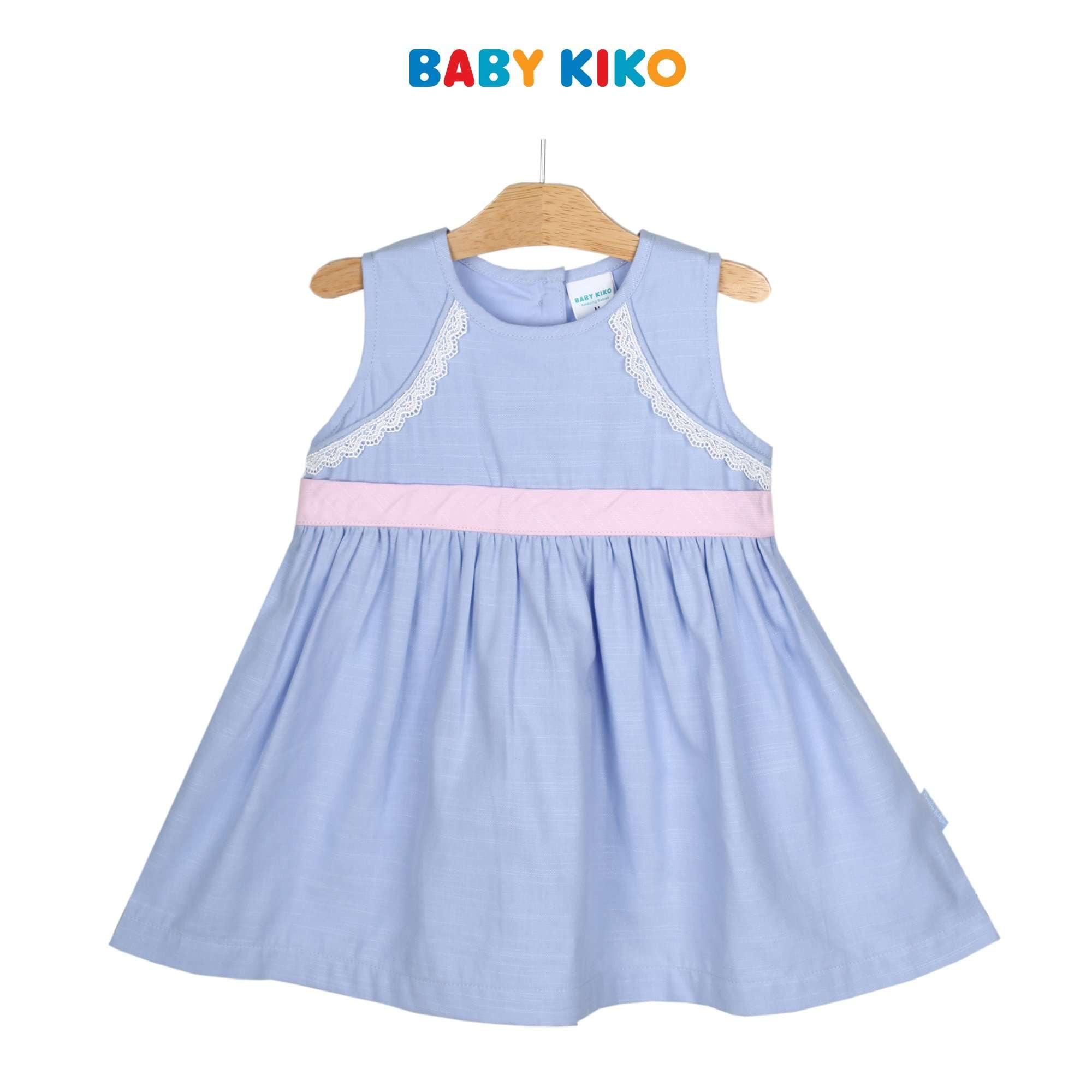 Baby KIKO Toddler Girl Sleeveless Dress - Blue 315134-311 : Buy Baby KIKO online at CMG.MY