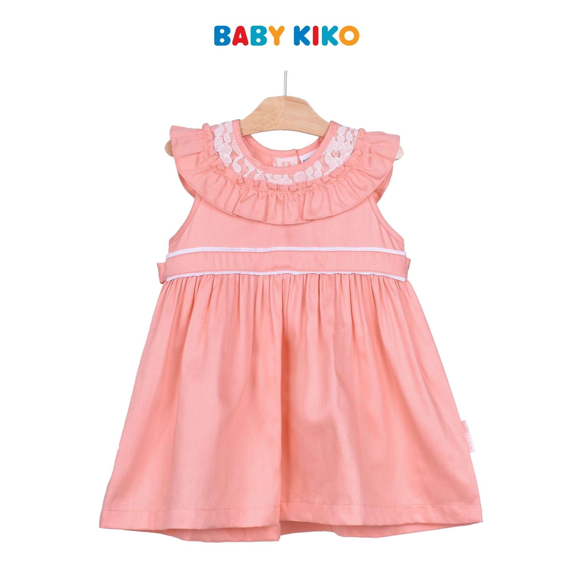 Baby KIKO Toddler Girl Sleeveless Dress - Peach 315141-311 : Buy Baby KIKO online at CMG.MY