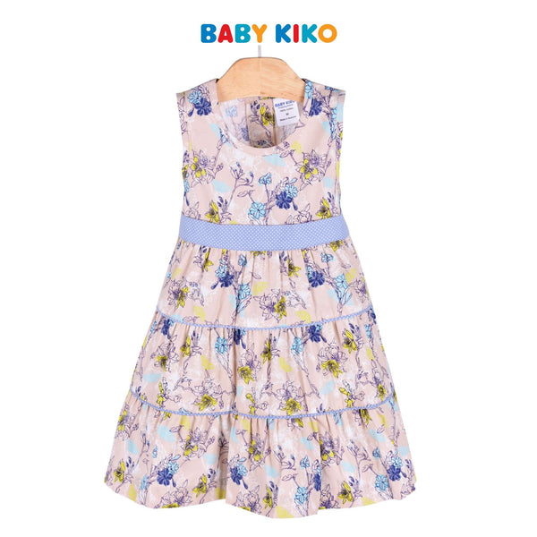 Baby KIKO Toddler Girl Sleeveless Dress Sirocco Cotton 315128-311 : Buy Baby KIKO online at CMG.MY