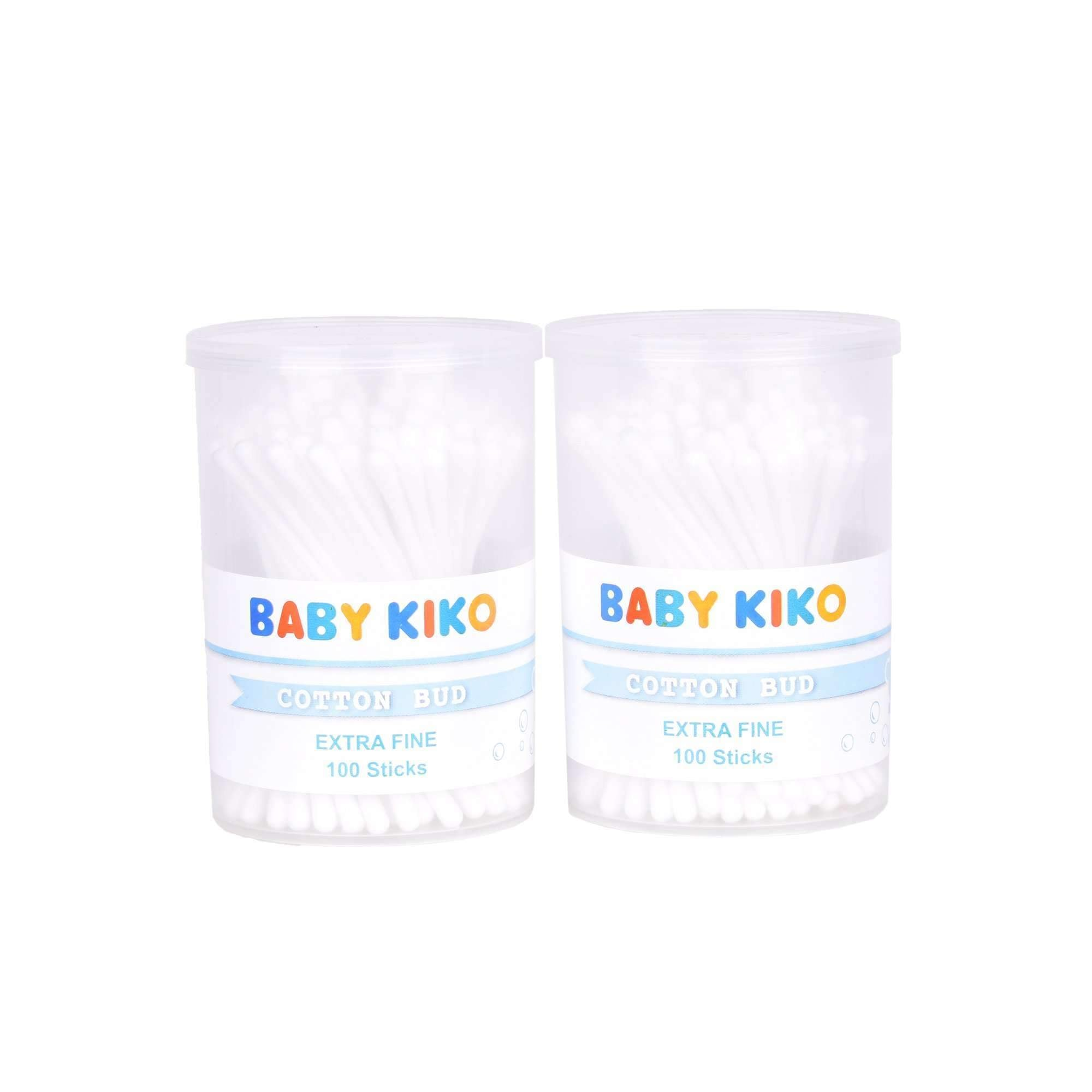 Baby KIKO Extra Fine Cotton Bud Twin Pack - 100 sticks X 2 3630-004 : Buy Baby KIKO online at CMG.MY