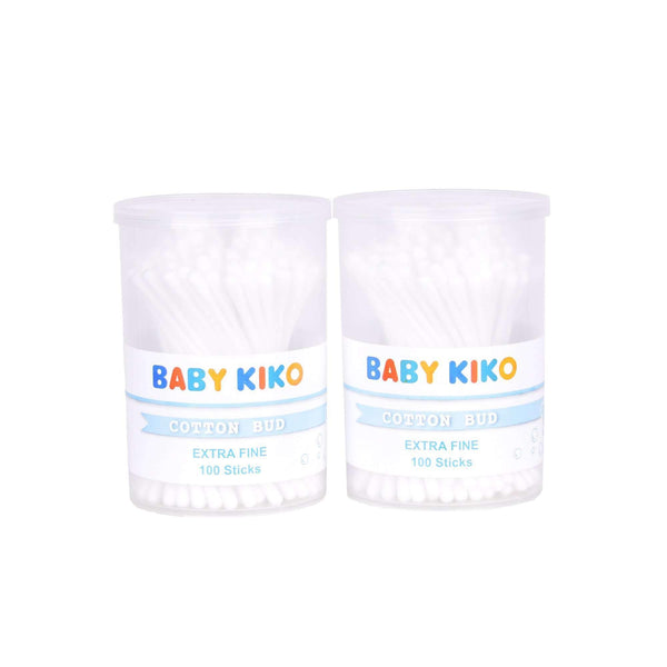 Baby KIKO Twin Pack Extra Fine Cotton Bud - 100 sticks X 2 3630-004 : Buy Baby KIKO online at CMG.MY