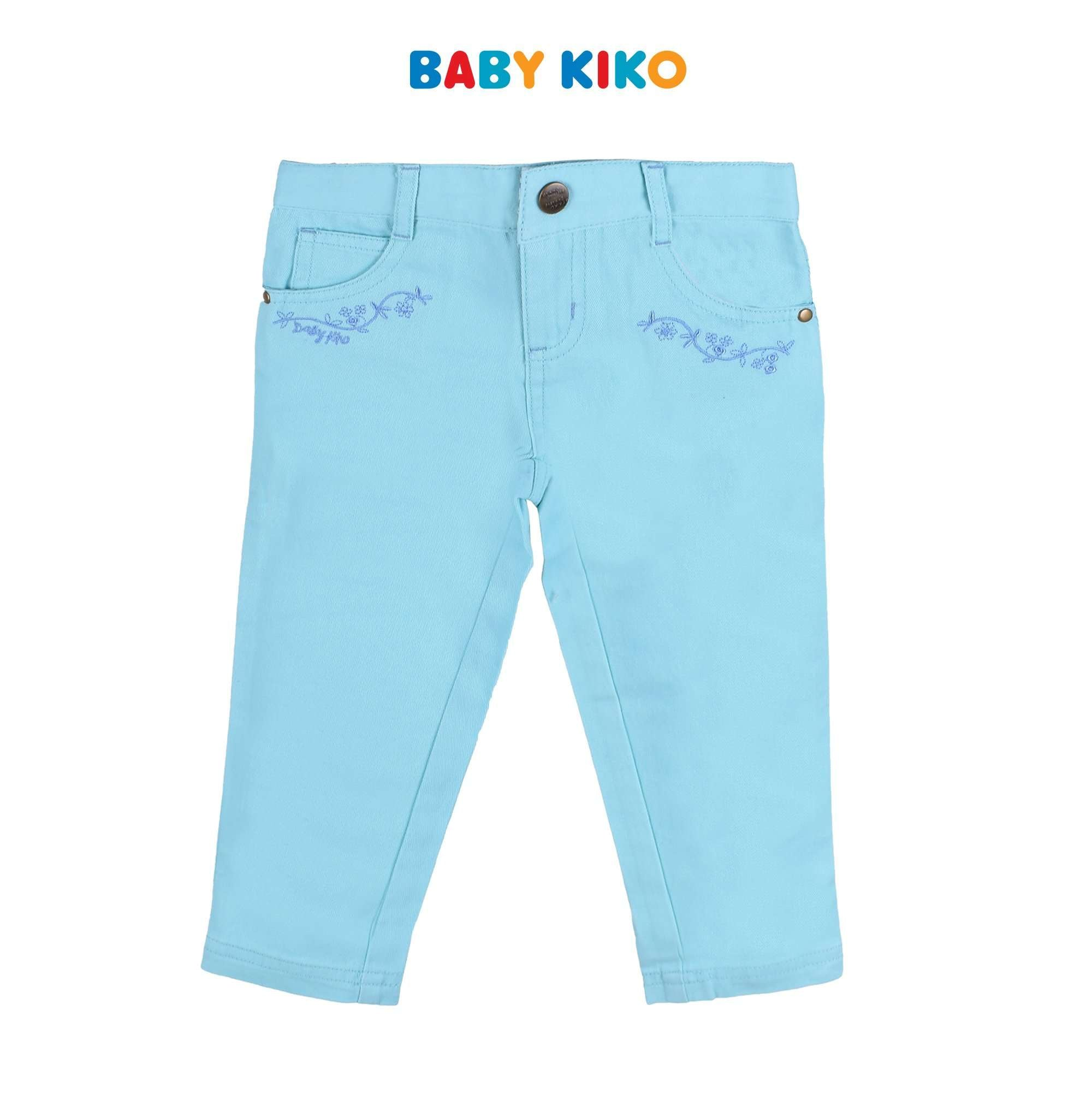 Baby KIKO Toddler Girl Long Pants Woven - Turquoise 335095-252 : Buy Baby KIKO online at CMG.MY