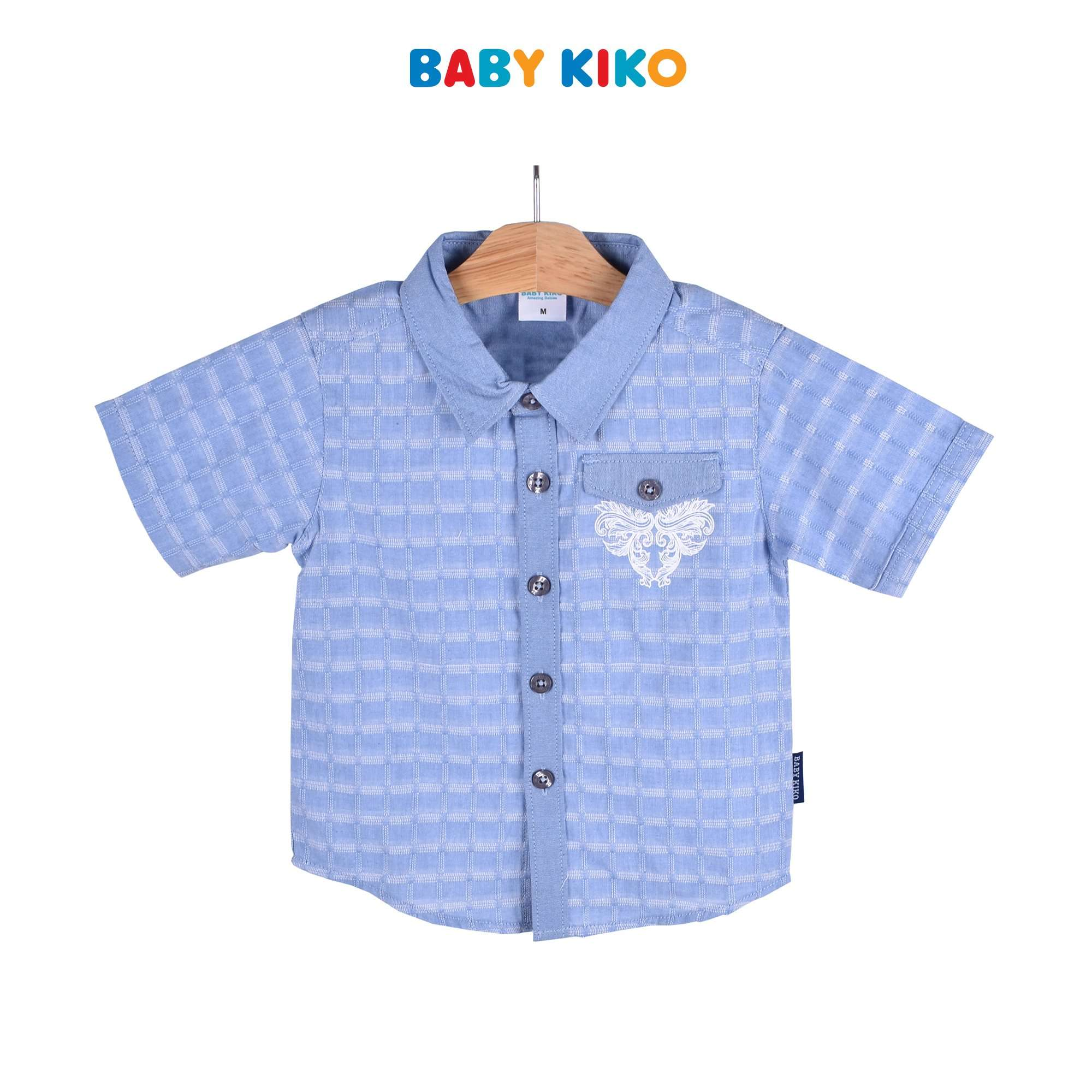 Baby KIKO Toddler Boy Short Sleeve Dress Woven - Navy 315122-141 : Buy Baby KIKO online at CMG.MY