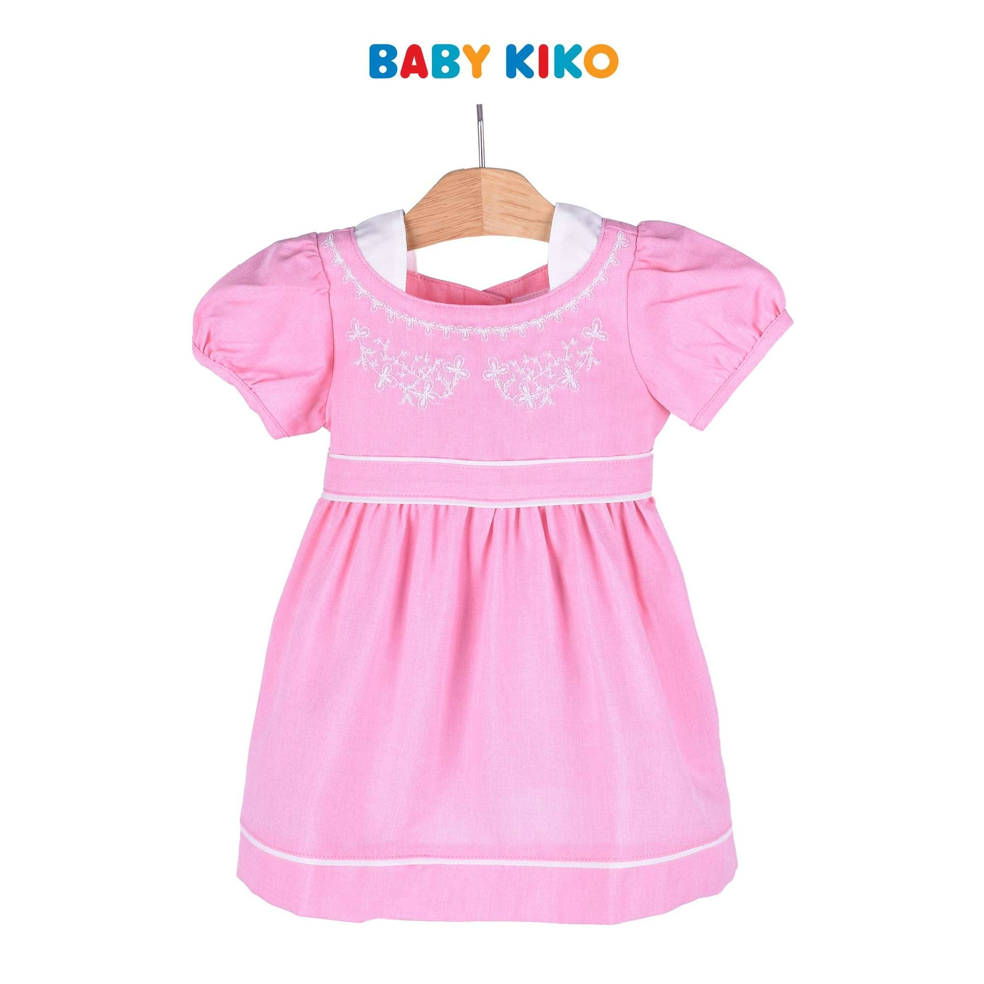 Baby KIKO Baby Girl Short Sleeve Dress Woven - Pink 310105-312 : Buy Baby KIKO online at CMG.MY