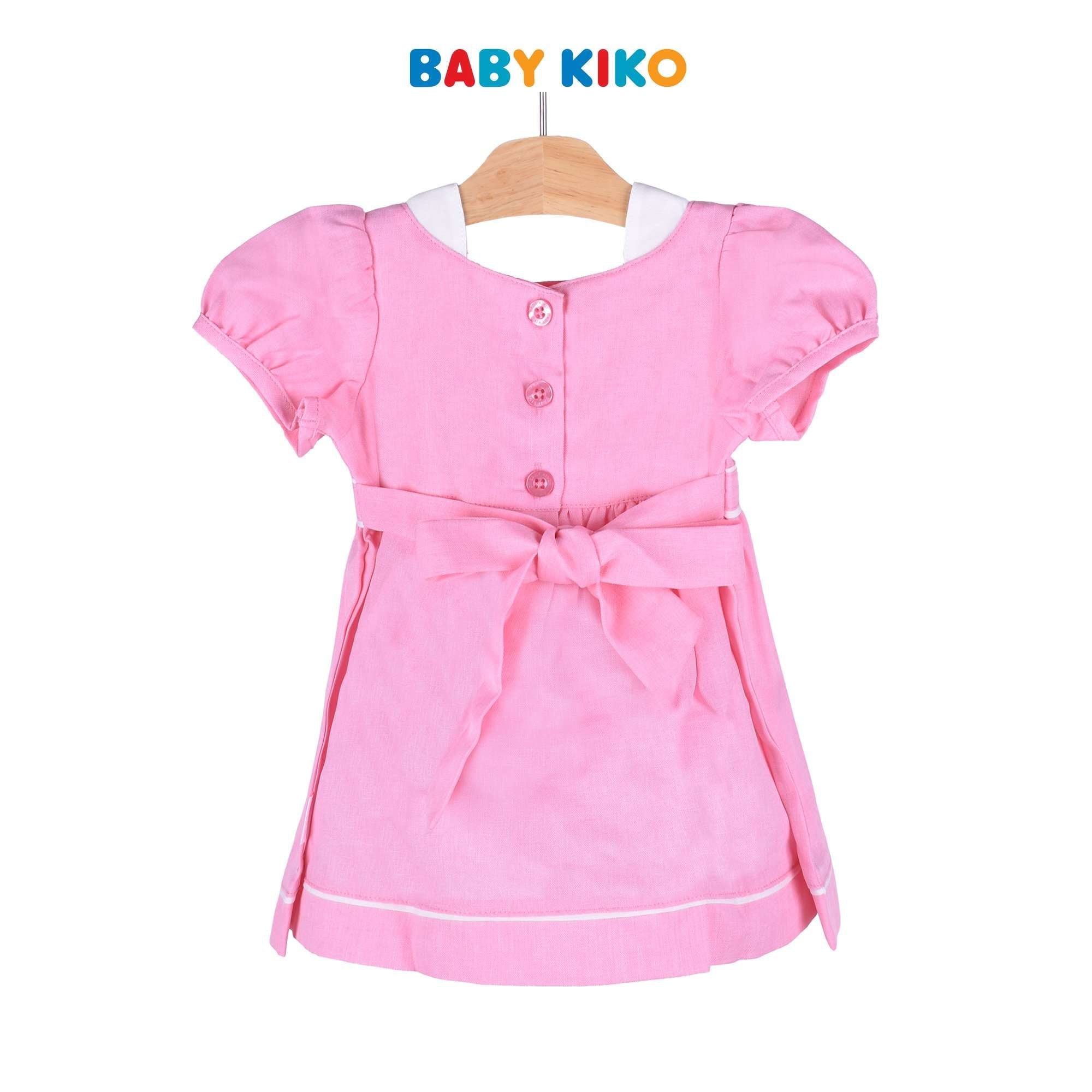 Baby KIKO Baby Girl Short Sleeve Dress Pink Woven 310105-312 : Buy Baby KIKO online at CMG.MY
