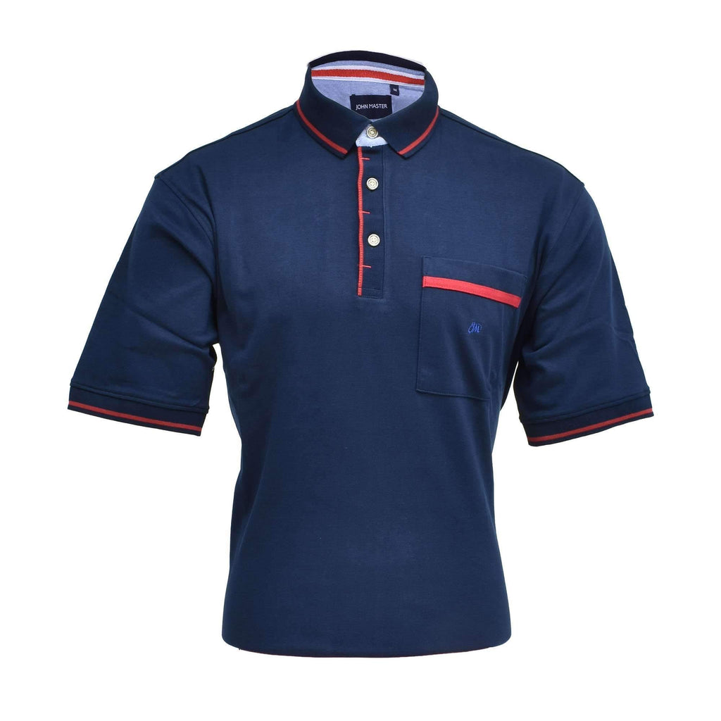 John Master Basic Polo Navy 8007000 : Buy John Master online at CMG.MY