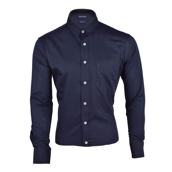 John Master Business Basic Shirt Long Sleeves Black 7077006 : Buy John Master online at CMG.MY