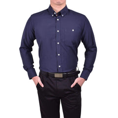 John Master Business Basic Shirt Long Sleeves Navy Blue 7077001 : Buy John Master online at CMG.MY