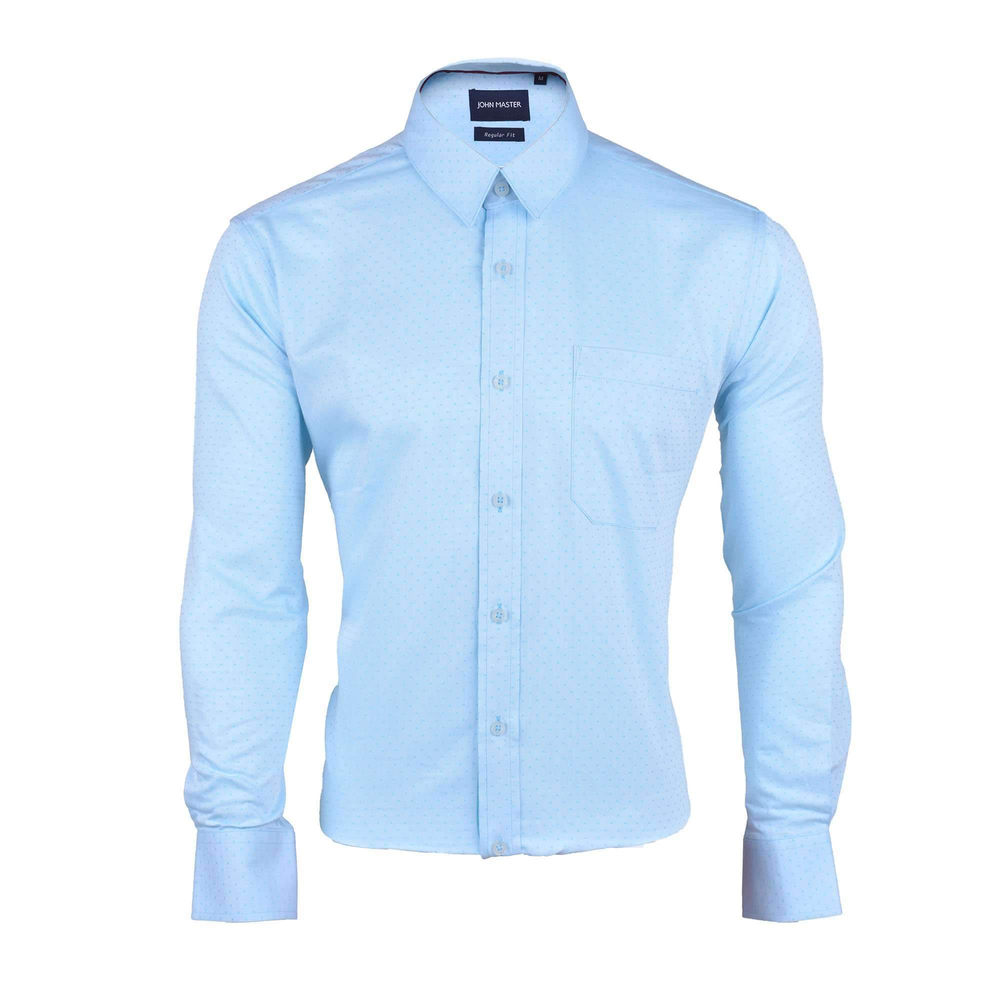 John Master Business Basic Shirt Long Sleeves Turquoise 7077005 : Buy John Master online at CMG.MY