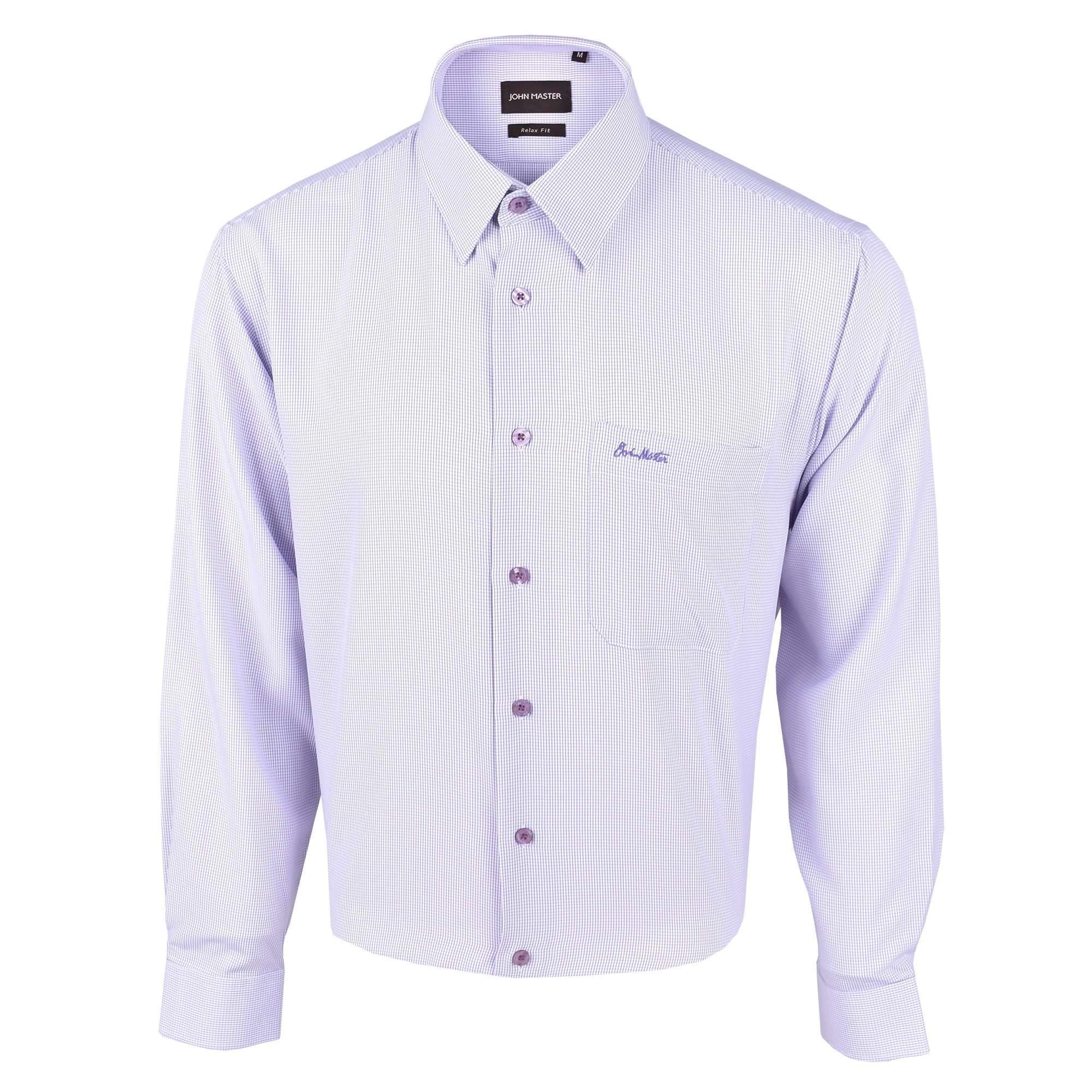 John Master Business Relax Fit Long Sleeves Shirt - Purple 7007008 : Buy John Master online at CMG.MY