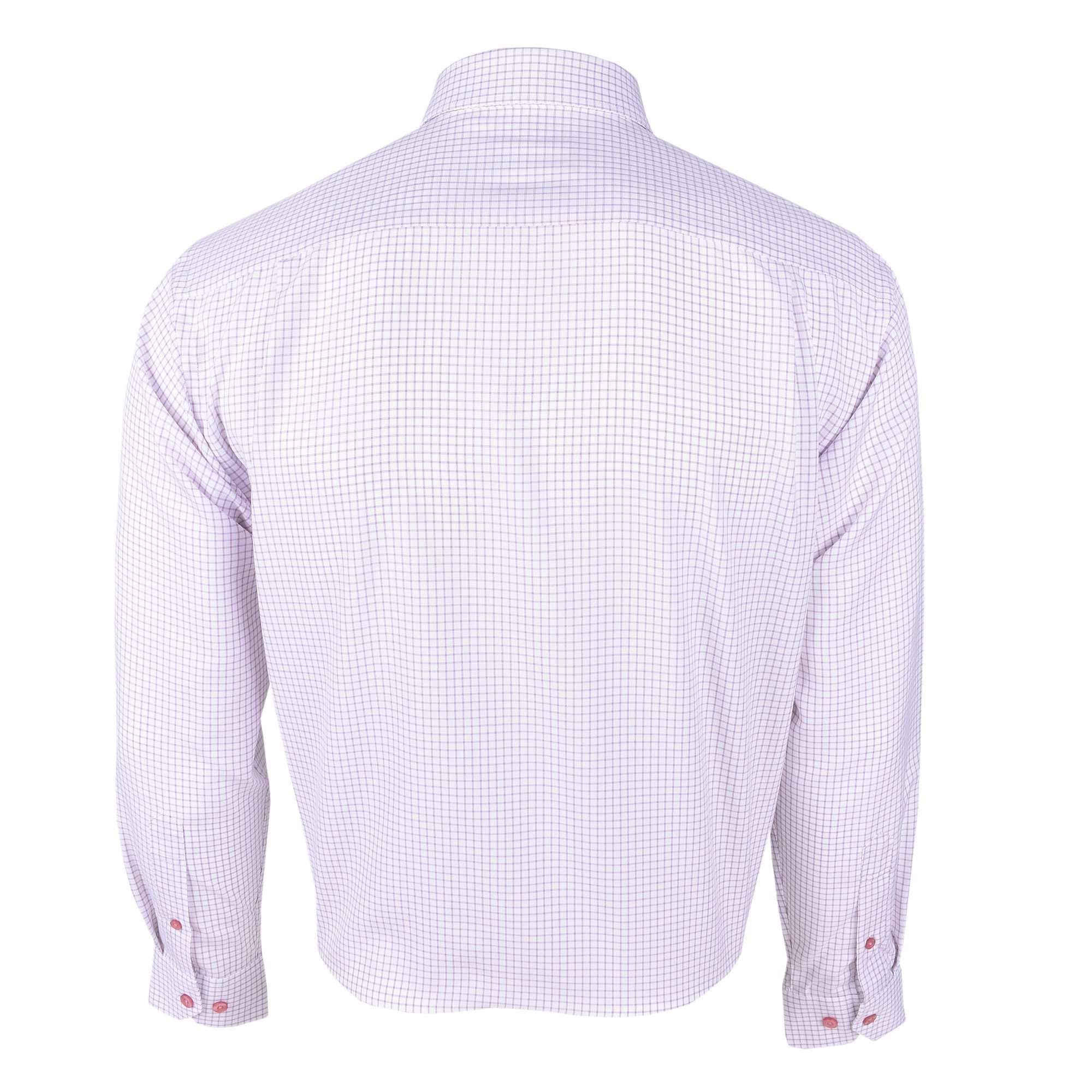 John Master Business Relax Fit Long Sleeves Shirt - Red Line Check 7007009 : Buy John Master online at CMG.MY