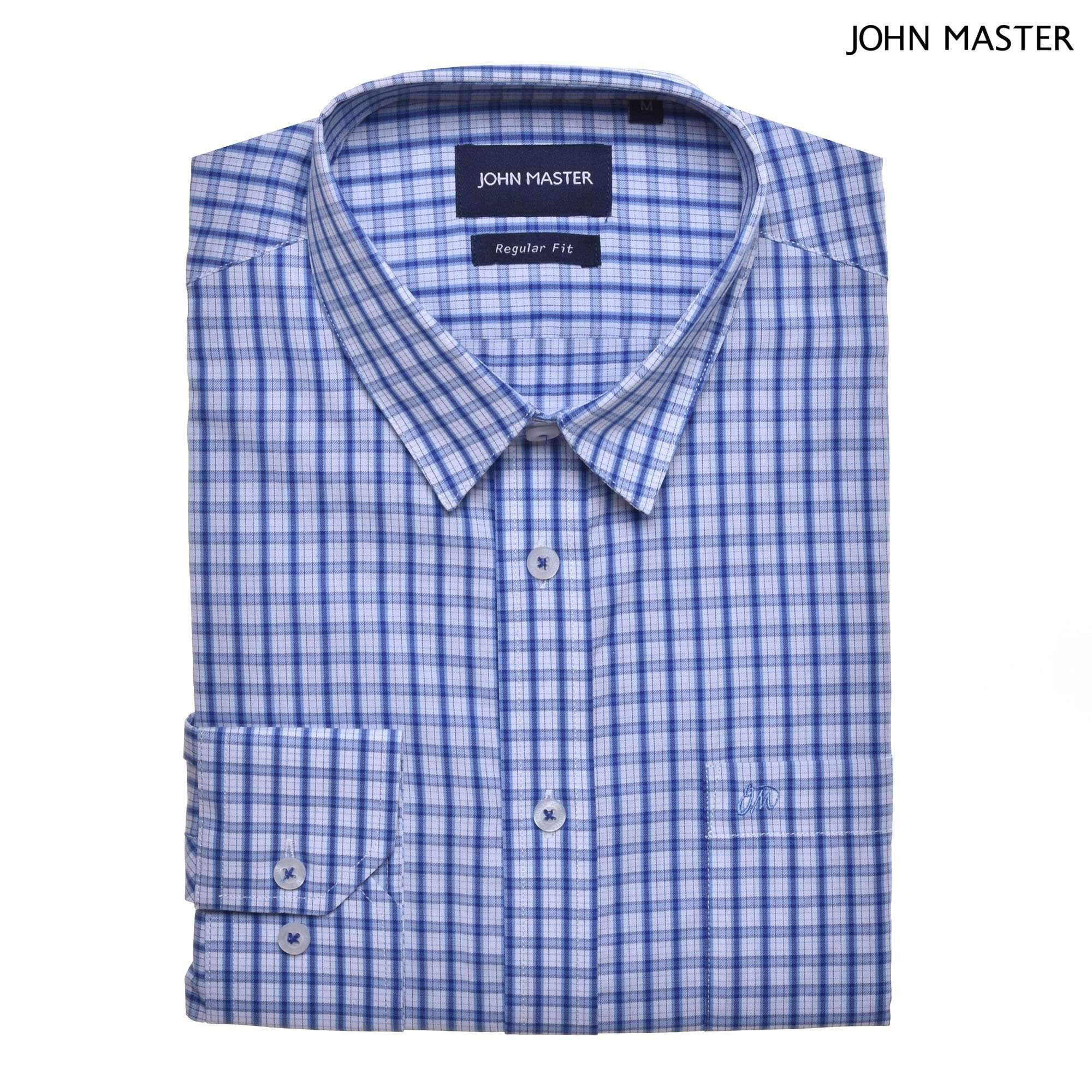 John Master Business Shirt Long Sleeve Blue 7087007 : Buy John Master online at CMG.MY