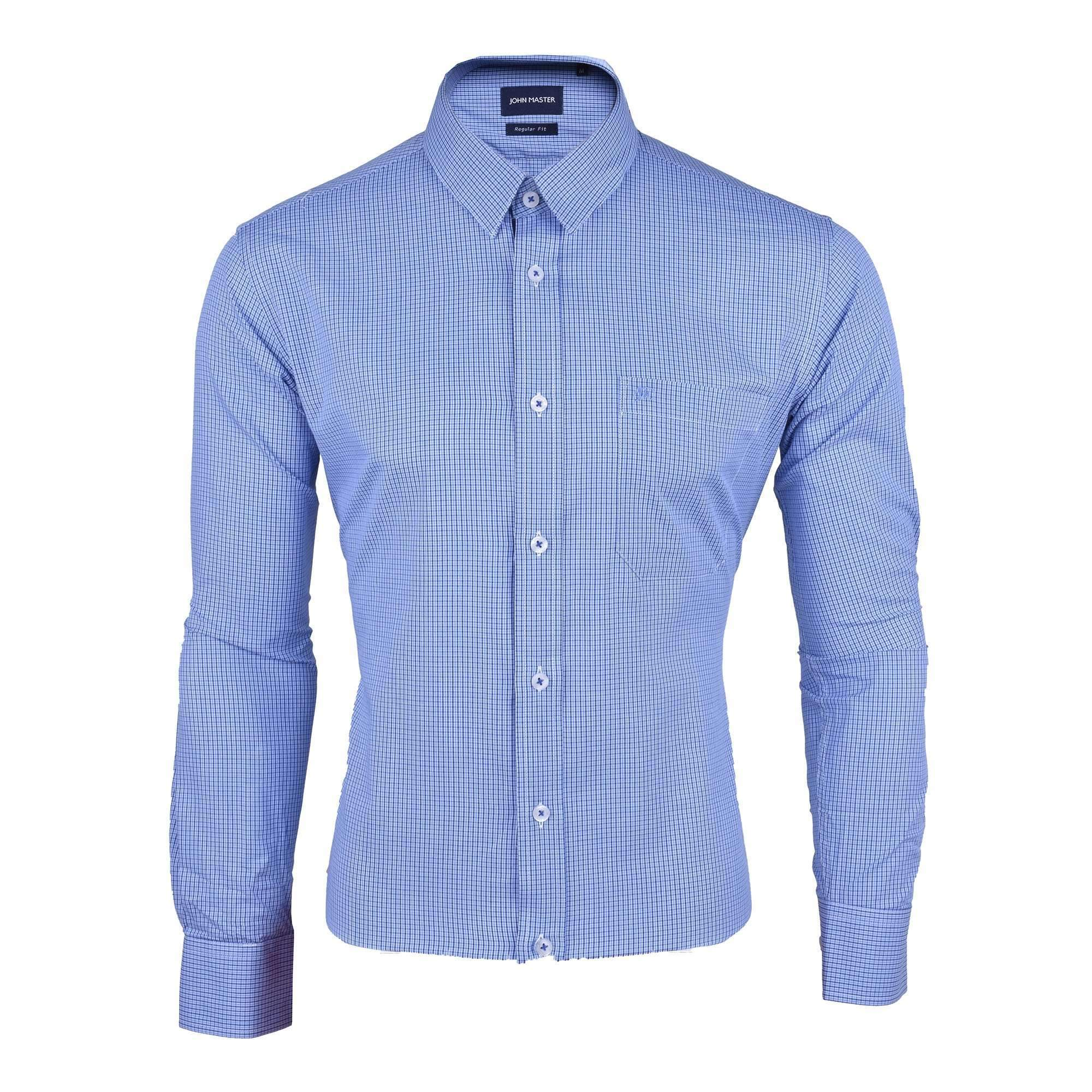 John Master Business Shirt Long Sleeve Blue 7087008 : Buy John Master online at CMG.MY
