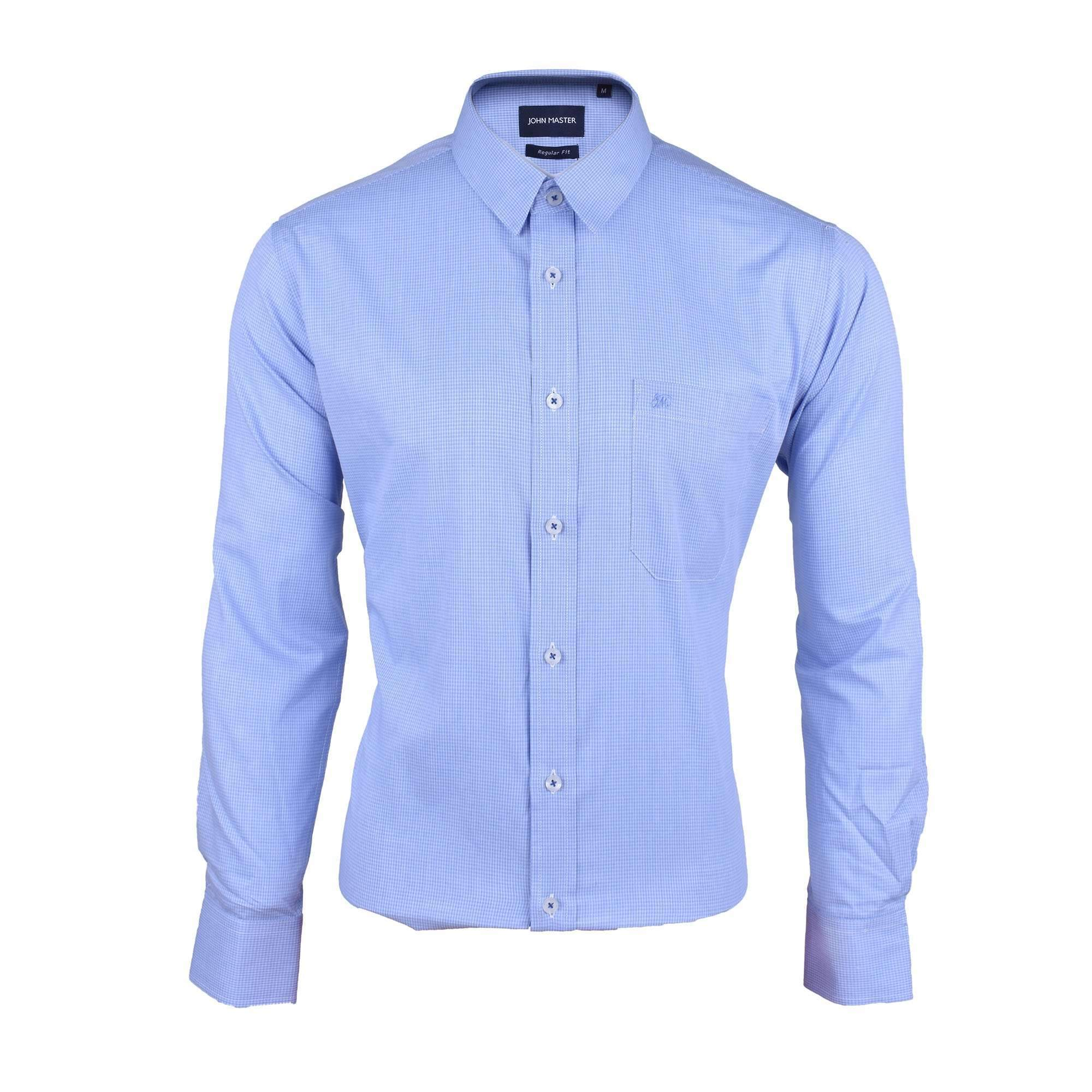 John Master Business Shirt Long Sleeve Medium Blue 7087005 : Buy John Master online at CMG.MY