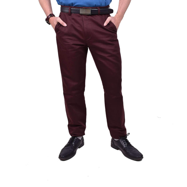 John Master Casual Pants Infinite Dark Maroon 4047000 : Buy John Master online at CMG.MY