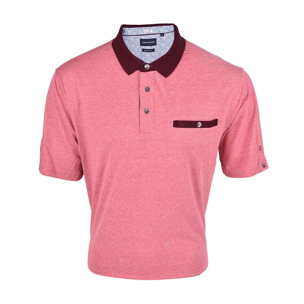 John Master Casual Regular Short Sleeve Polo Tee - Pink 8007009-R5 : Buy John Master online at CMG.MY