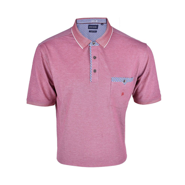 John Master Casual Regular Short Sleeve Polo Tee - Pink 8007010-R7 : Buy John Master online at CMG.MY