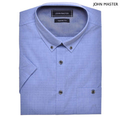 John Master Casual Shirt Short Sleeve Dark Blue 7067004 : Buy John Master online at CMG.MY