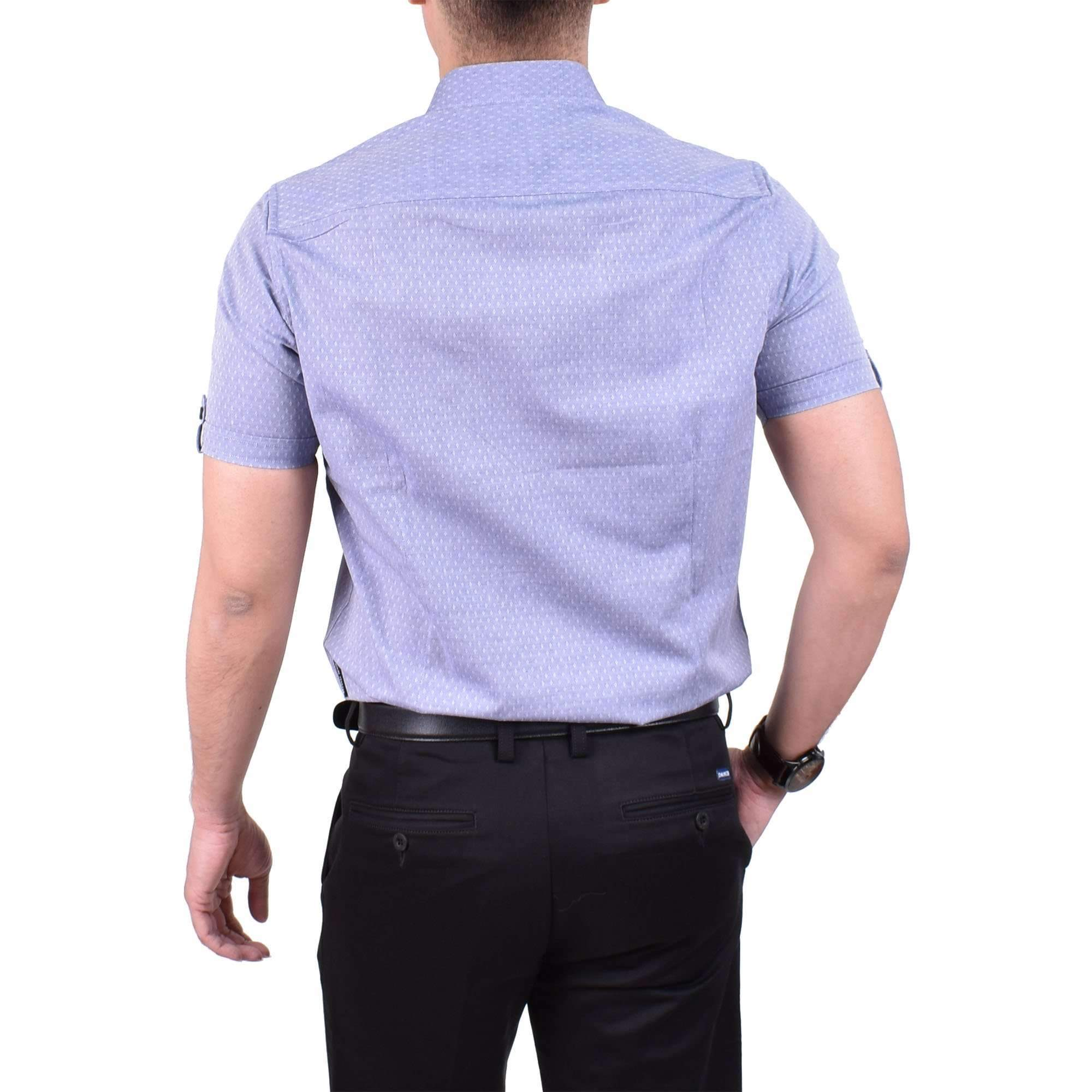 John Master Casual Shirt Short Sleeve Dark Blue 7067005 : Buy John Master online at CMG.MY