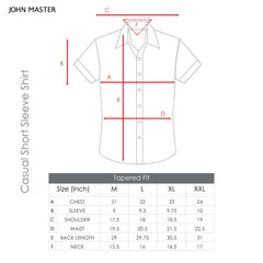 John Master Casual Shirt Short Sleeve Dark Blue 7067006 : Buy John Master online at CMG.MY