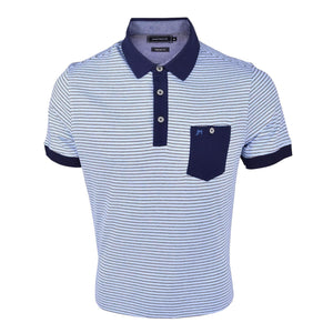 John Master Casual Tapered Fit Short Sleeves Polo Tee - Blue 8087008 : Buy John Master online at CMG.MY
