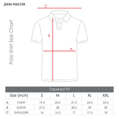 John Master Casual Tapered Short Sleeve Collar Tee - Khaki 8087010-K3 : Buy John Master online at CMG.MY