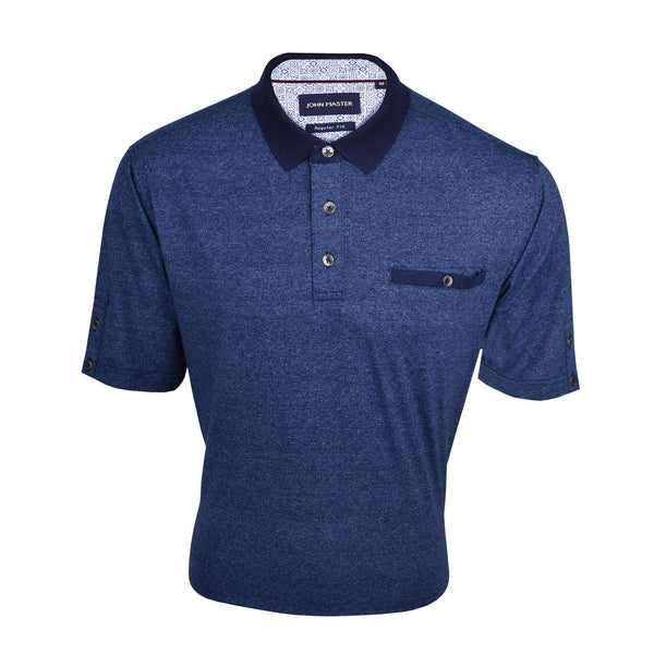 John Master Casual Tapered Short Sleeve Polo Tee - Navy 8007009-L9 : Buy John Master online at CMG.MY