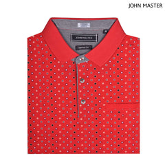 John Master Casual Tapered Short Sleeve Polo Tee - Red 8088000-R5 : Buy John Master online at CMG.MY