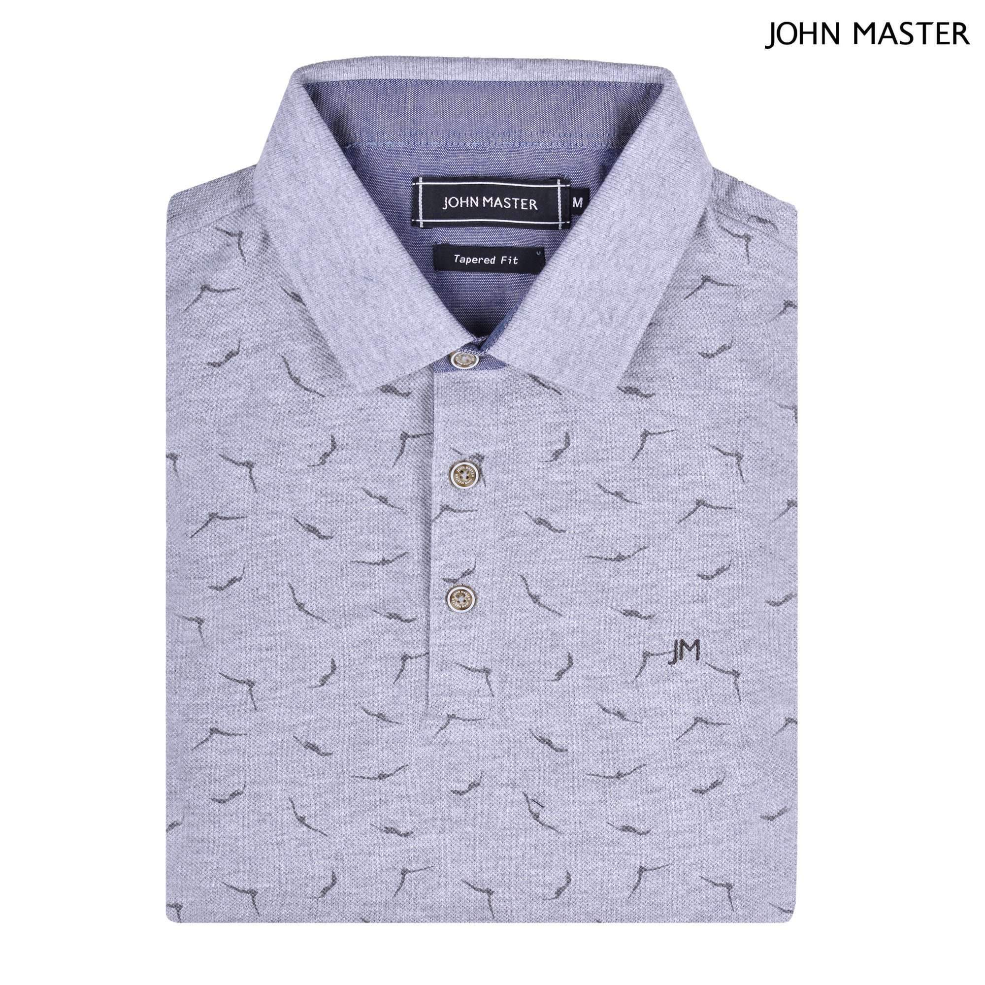 John Master Cotton Polo Tee Tapered Fit Gray 8087011 - G5 : Buy John Master online at CMG.MY