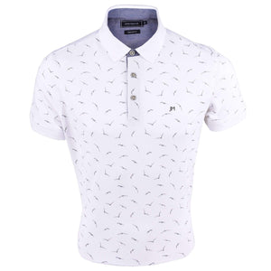 John Master Cotton Polo Tee Tapered Fit White 8087011 - AO : Buy John Master online at CMG.MY