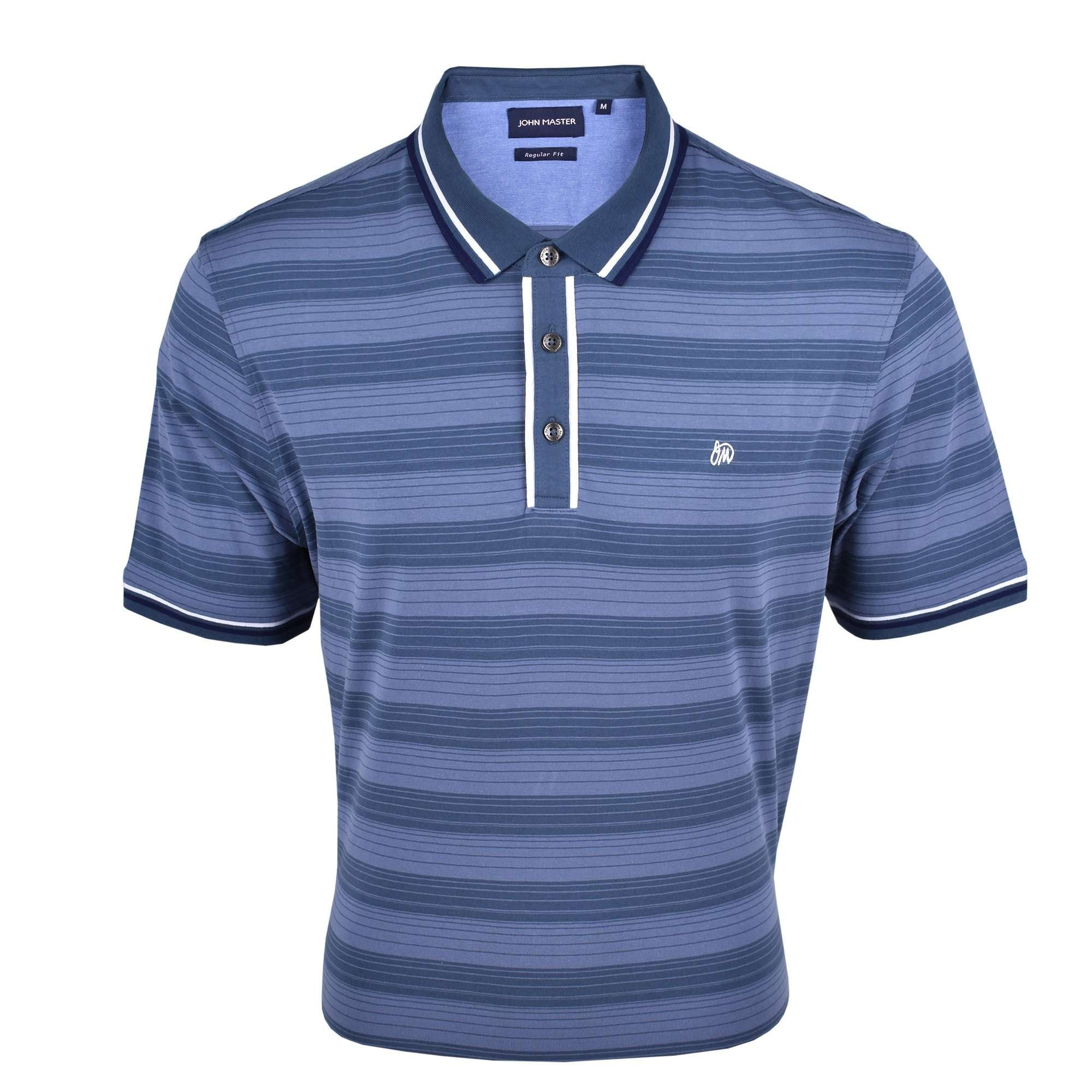 John Master Men Casual Regular Fit Polo Tee Blue 8007008-L5 : Buy John Master online at CMG.MY