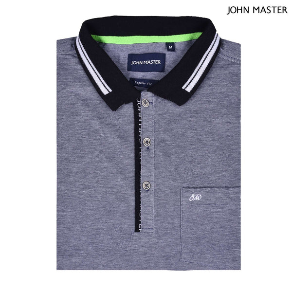 John Master Men Casual Regular Fit Polo Tee Grey 8008003-G5 : Buy John Master online at CMG.MY