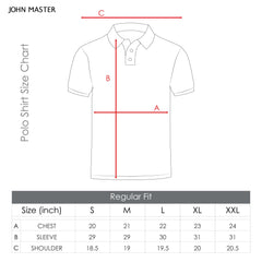 John Master Men Casual Regular Fit Polo Tee Grey 8068000-G5  : Buy John Master online at CMG.MY